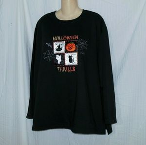 Vintage Basic Editions Halloween Sweatshirt Sz 2X